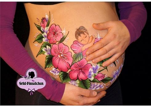 Tag der Babybauchkunst