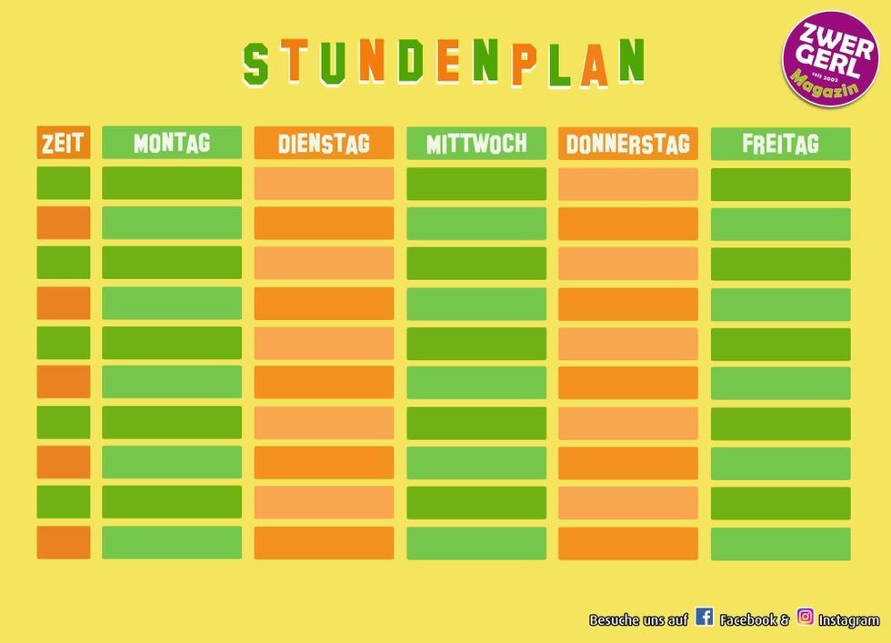 Stundenplan Fußball