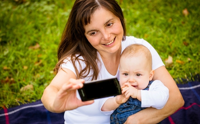 Mother and baby - capturing moments