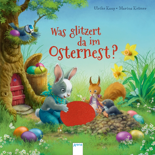 Was glitzert da im Osternest