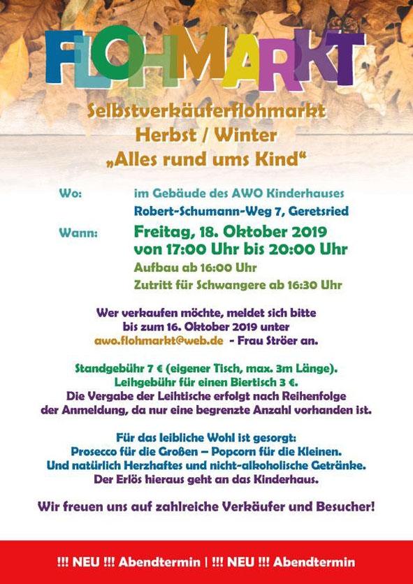 Flohmarkt Herbst/Winter 2019