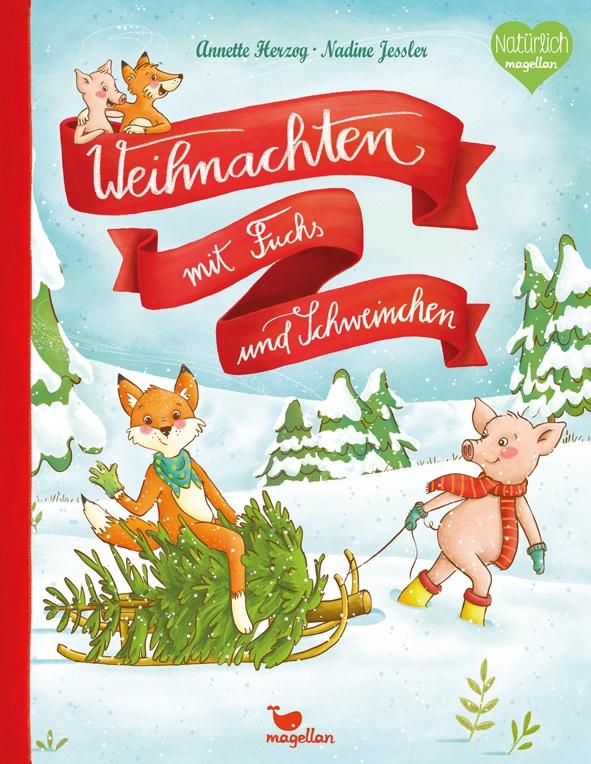 Weihnachten mit Fuchs und Schweinchen
